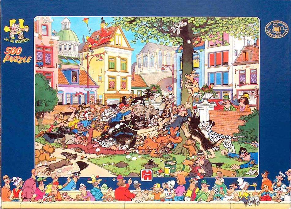 500 pcs - Jan van Haasteren puzzels EN